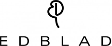 Edblad - formgivarna Hans och Catherine Edblad - logotype